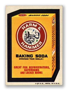 Harm & Hammer - Topps Wacky Packages 3rd Series 1973