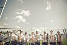 Orange baseball wedding by Dana Widman Photography | Done Brilliantly