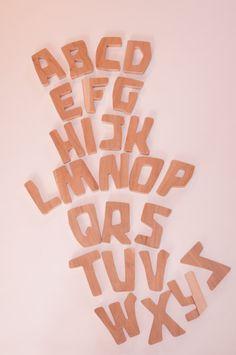 Waldorf ~ 1st grade ~ Letters ~ Wooden Alphabet
