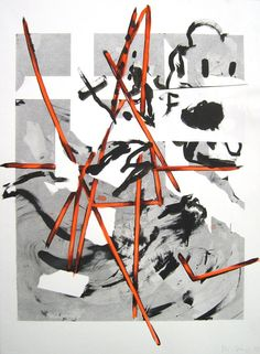 <i>Untitled</i> 2008 Charcoal, ink, and acrylic drawing on paper 30 1/8 x 22 1/2 inches--CHARLINE VON HEYL