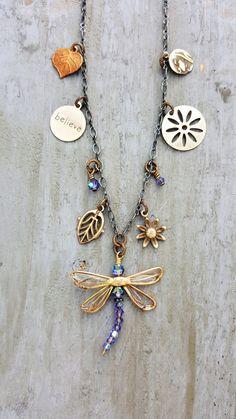 Charm Necklace Dragonfly Women's Handmade Jewelry