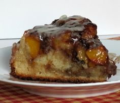 Pine Cones and Acorns: Vanilla Peach Coffee Cake Peach Coffee Cakes, Peach Cake, Just Desserts, Delicious Desserts, Yummy Food, Upside Down Apple Cake, Yummy Treats, Sweet Treats, Cake Recipes