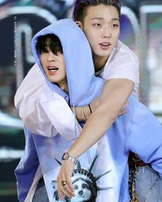 I'm soft of Double B Friendship 🖖😇🌠 Rest well boys & get well soon 💖 © elviento Yg Artist, Winner Ikon, Ikon Kpop, Bobby S, Kim Ji Won, Double B, Kim Hanbin, Asian Babies, Fandom