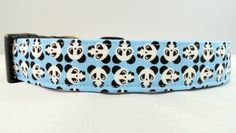 Awesome Bright Blue Panda Dog Collar by Maltipaws on Etsy, $13.95