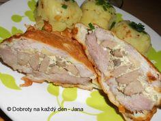 Recept Hejkalův řízek - Naše Dobroty na každý den Meatloaf, Pork, Recipes, Kale Stir Fry, Meat Loaf, Pigs, Pork Chops, Recipies