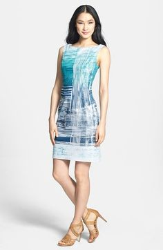 Adrianna Papell Print Sheath Dress available at #Nordstrom