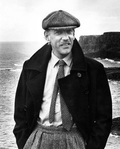 Donald Sutherland in #tweed. @Amy Armstrong