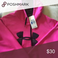 Ladies Under armour hoodie. NWT Hot pink under armour hoodie. NWT, never been worn Under Armour Tops Sweatshirts & Hoodies