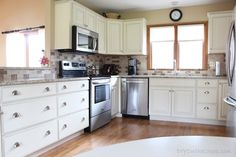 Kitchen Transformation {Check out DIYOntheCheap.com for Before & After pics}
