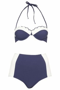 All praise the <b>pin-up girl</b> with some stylishly modern takes on a retro beach classic. Proof that for this huge summer trend, <i>sexy</i> doesn