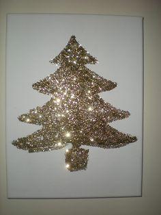 Fun Glitter Christmas Tree DIY