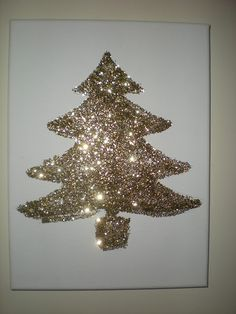 Fun Glitter Christmas Tree DIY