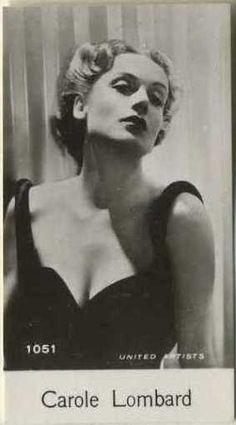 Carole Lombard~ circa 1940 De Beukelaer Trading Card #1051 on Immortal Ephemera