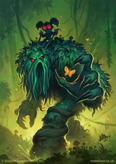 Matt Dixon   'Bog Creeper'  The Old Gods have been unleashed! The last of my illustrations for the new Hearthstone expansion, Whispers of the Old Gods. #oldgods