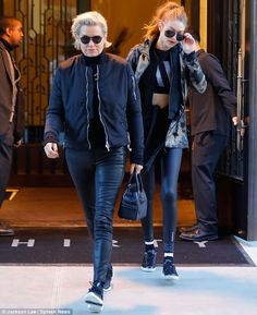 Mother-daughter moments: The girls' mother Yolanda Hadid was also in town to spend time wi...