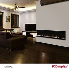 Dimplex's IgniteXL fireplace insert, Fit for any Modern Home. Discover your fireplace today on our website: http://www.dimplex.com/en/