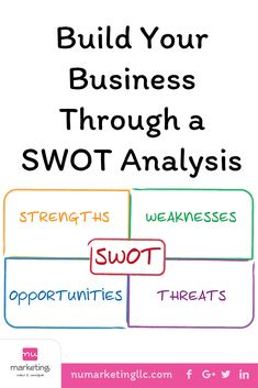 SWOT Analysis is useful to any strategic business plan & strategic marketing plan. This is a great exercise to conduct with your leadership team annually. Internet Marketing, Social Media Marketing, Strategic Marketing Plan, Construction Business, Swot Analysis, Business Branding, Easy Workouts, Leadership, Books To Read