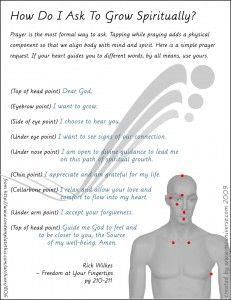 Prayer Tapping Script Cue Card | Wellness MCUniverse