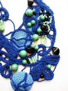 Happy golden blue Monday by Lorena Balea-Raitz on Etsy Green Windows, Point Lace, Crochet Necklace, Ocean, Ink, Fresh, Jewellery, Happy, Blue