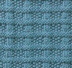 ściegi na drutach - krata