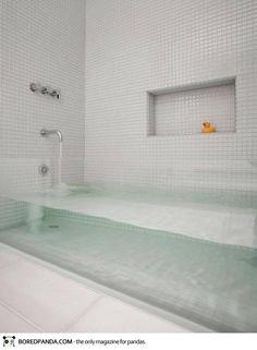 See through bath tub