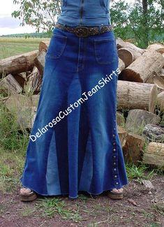 Levis Maxi Denim Blue Jean Skirt 13 Long Distressed Trendy Junior A Line Modest ALine