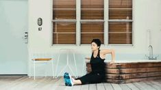 Tricep Dips, 3 sets of 15 reps, Farrah Yaspe Good for tricep toning and strength.