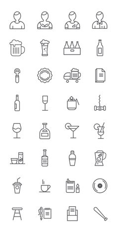 Bar Themed Icons