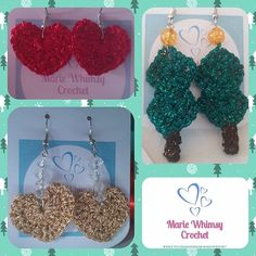 Marie Whimsy Crochet (@mariewhimsycrochet) • Instagram-bilder og -videoer Crochet Earrings, Etsy Shop, Projects, Instagram, Log Projects