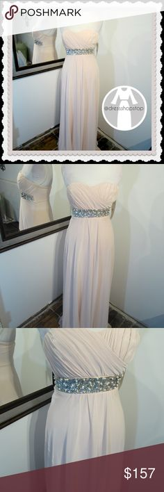 Pale Pink Formal Strapless Gown // Sequins // sz 4 Pale Pink Formal Strapless Gown // Sequins & Pearls// sz 4 // NWOT Dresses