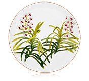 Hermes Jardin des Orchidees dinner plate