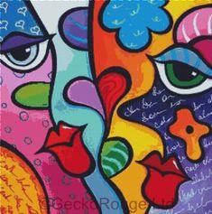 Art 'Pop 321 2424 Abstract Pop Art Pure' - by Thomas C. Fedro from Pop Art Fine Art Amerika, Pop Art Collage, Hippie Painting, Chicago Artists, Hippie Art, Whimsical Art, Art Lessons, Modern Art, Abstract Art
