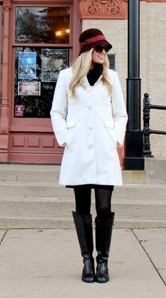White coat for winter