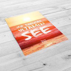 Ich brauch Vitamin See - Heimatmeer Print