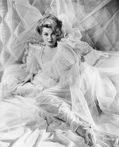 1940s Arlene Dahl in negligee