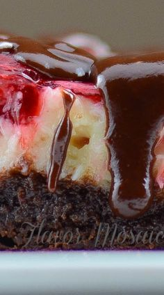 Cherry Cheesecake Brownies Recipe ~ over the top... It tastes Amazing!