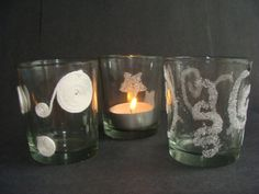 Použijte k výrobě vánoční dekorace krupicový cukr Candle Holders, Candles, Porta Velas, Candy, Candle Sticks, Candlesticks, Candle, Candle Stand