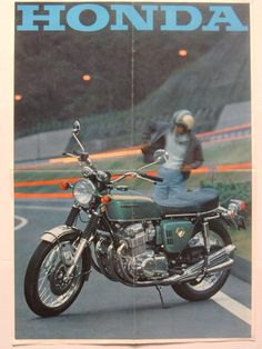 1969_HONDA CB750Four K0 +range brochure.JAPAN_01-04 Honda Motors, Honda Bikes, Honda Cb750, Yamaha, Retro Bike, Retro Motorcycle, Japanese Motorcycle, Motorcycle Posters, Classic Honda Motorcycles