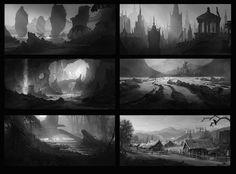 ArtStation - Black and white thumbnails, Nikolay Razuev