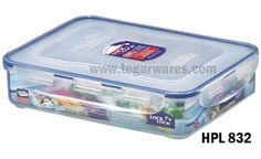 LockandLock Rectangular Food Container with Locking Lid and Divider  sc 1 st  Pinterest & Lock u0026 lock 3.38 cups airtight rectangular food storage container ...