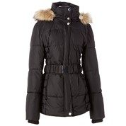 Belted Ruched Puffer Coat