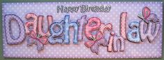 Card Gallery - Large DL Birthday DAUGHTER IN LAW Butterflies 3D decoupage