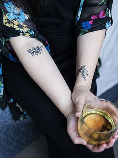 Lingonberry Tattoo by Gitte Klebajn from Le Fix Tattoo in Copenhagen. Rosemary & Thyme Tattoo by Sergio Luis Mesa in Brooklyn, NYC. #WellSeasoned @lobese