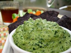Raw cashew and spinach dip