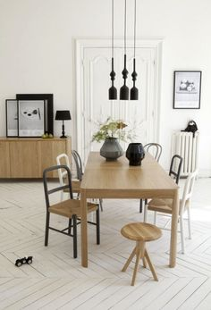Dining room with Sam Baron pour La Redoute furniture collection