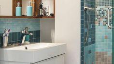 Aménagement d'une petite salle de bains : les 5 pièges à éviter - salle de bains réalisée par l'architecte Benjamin Godiniaux.