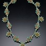 Mint Beaded Beads and Bead Quilled Necklace - Sold ($300)