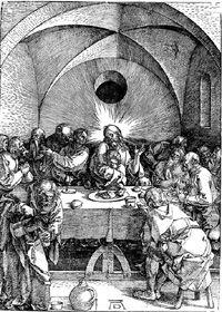 Concealed Vesica Piscis in Albrecht Durer engraving (Ichthys, Jesus Fish, Mandorla) -- sacred geometry