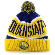 '47 Brand Golden State Warriors Calgary Cuffed Knit Hat - Gold/Royal Blue #warriors @Golden State Warriors #gamewear #trainingcamp