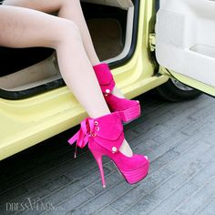 2013 Extreme High Heel Spring Red Open Toe Platform Height Shoes.
